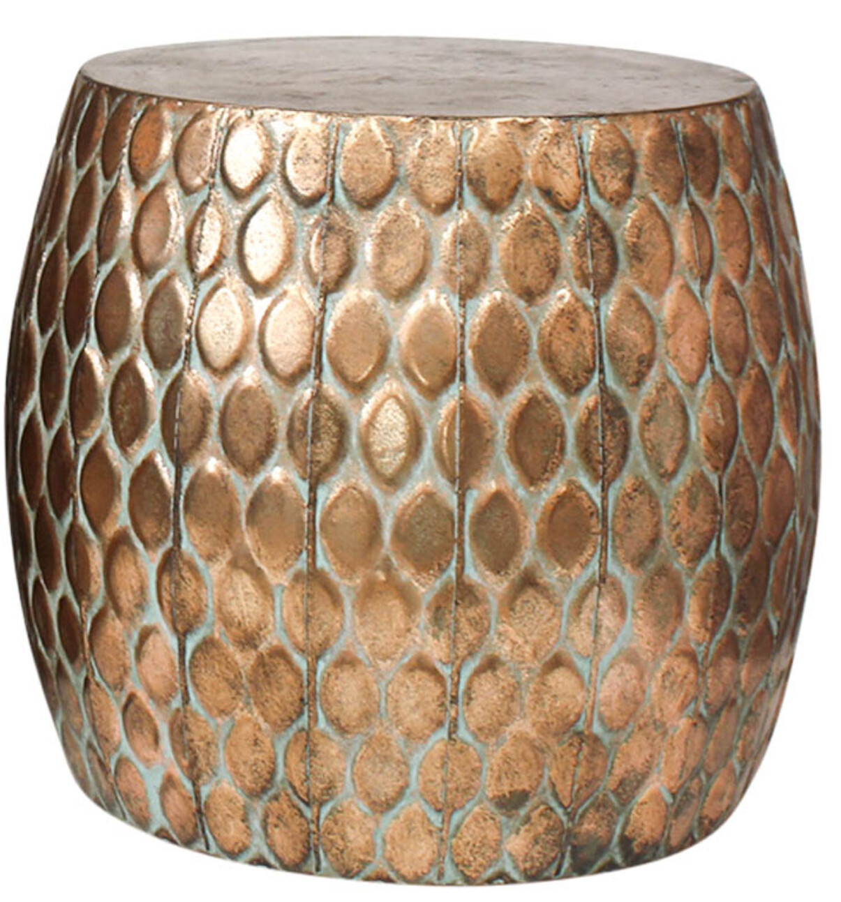FURNITURE - METAL TURTLE SCALE STOOL - SMALL