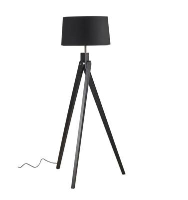 LIGHTING - FLOOR LAMP BLACK WITH BLACK SHADE