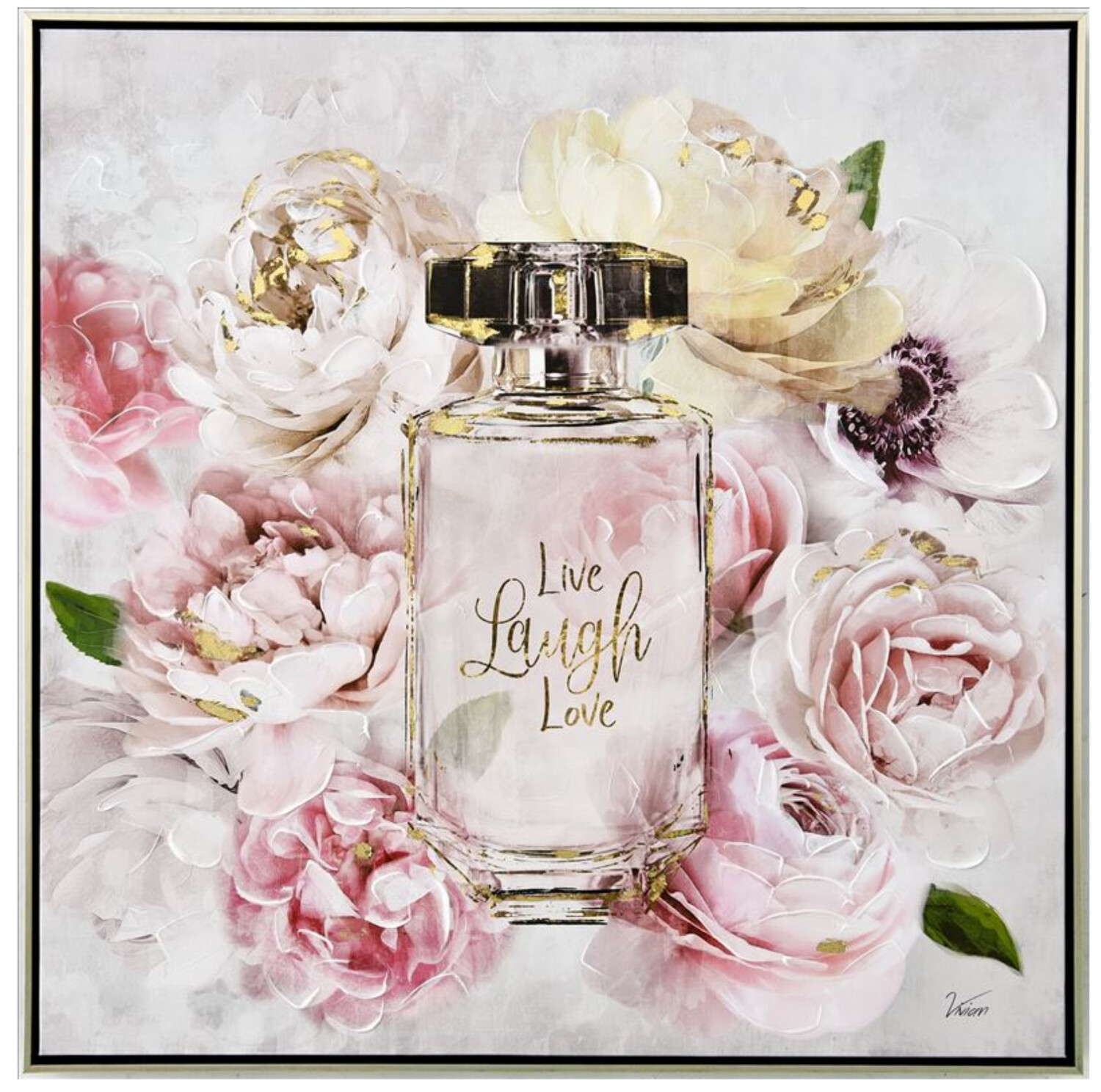 LIVE LAUGH LOVE PERFUME BOTTLE CANVAS