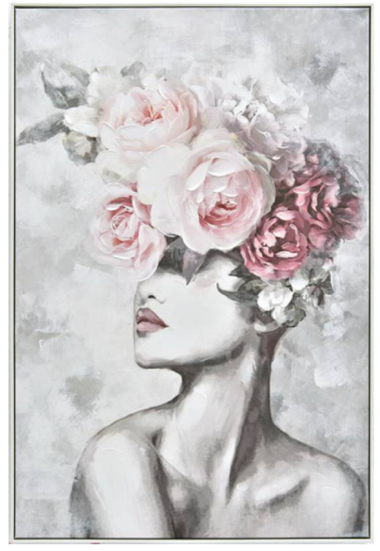 ELEGANT FLOWER LADY CANVAS