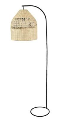 RATTAN & METAL FRAME FLOOR LAMP