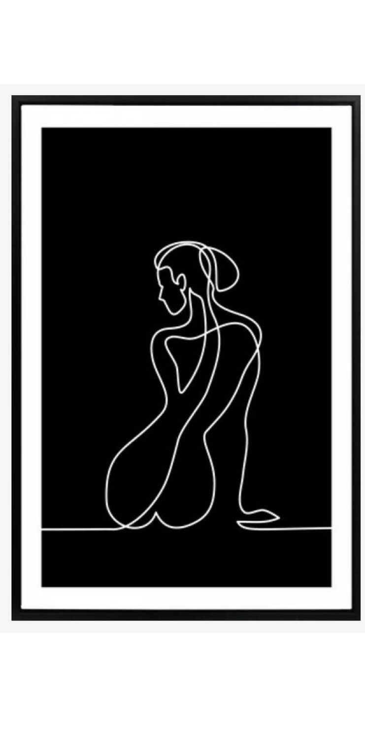 WALL ART - FIGURE SKETCH CANVAS PRINT