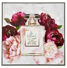 SHE BELIEVED PERFUME BOTTLE CANVAS