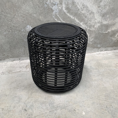 BLACK BAMBOO SMALL SIDE TABLE