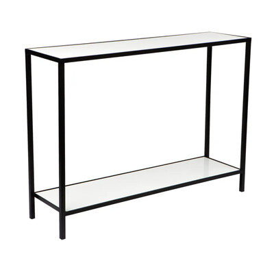 MARBLE CONSOLE TABLE - BLACK