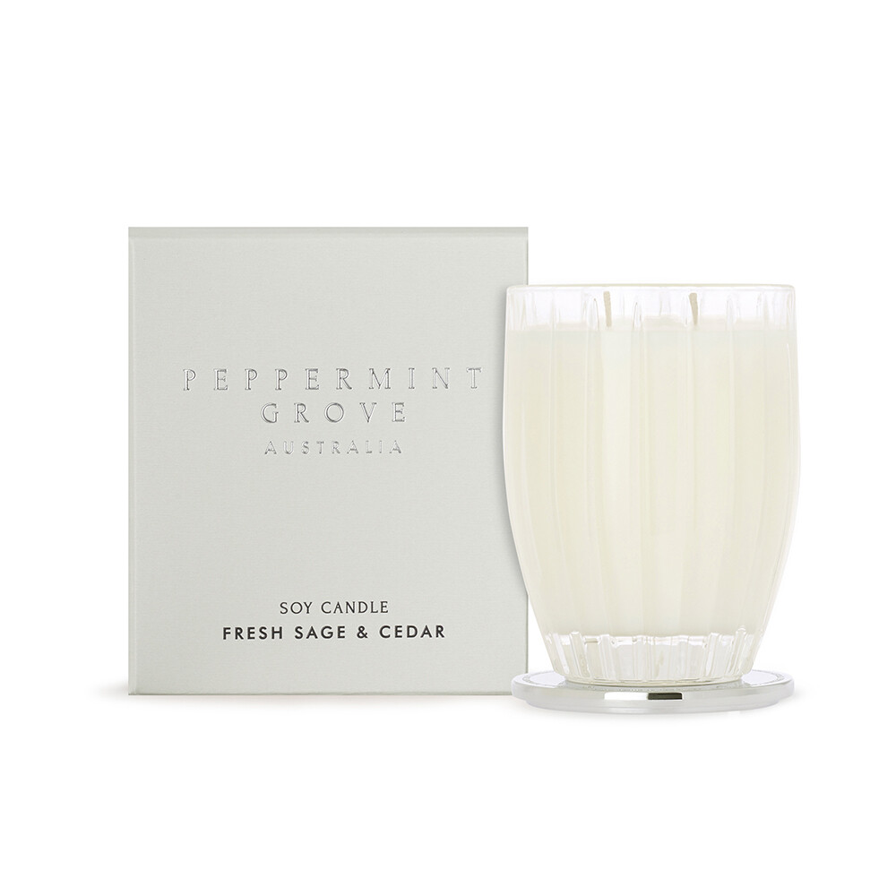 PEPPERMINT GROVE - FRESH SAGE & CEDAR CANDLE