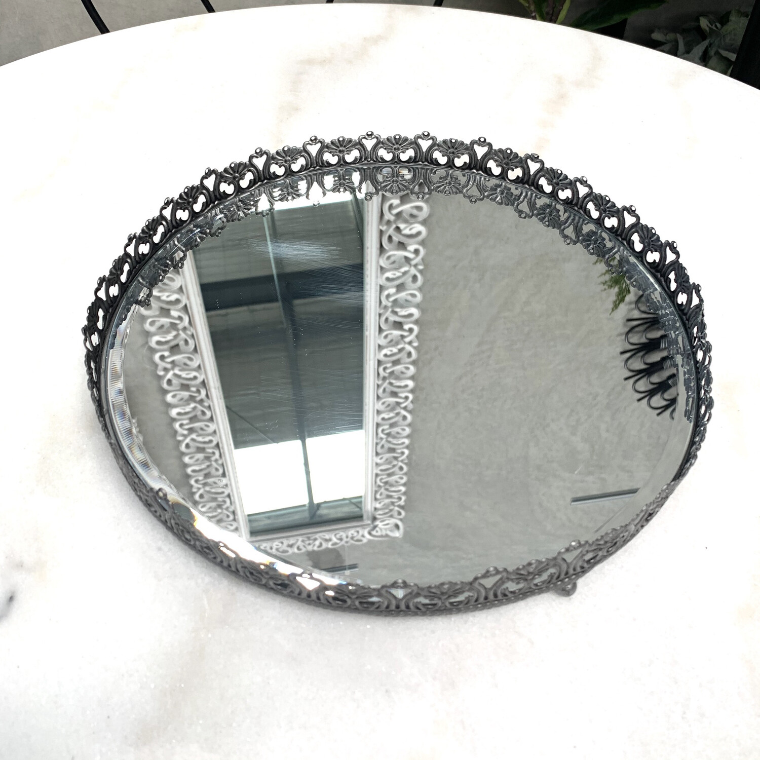 ANTIQUE SILVER TABLE TRAY