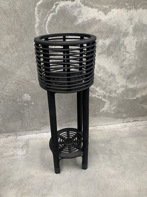PLANTER TALL ISLAND BLACK