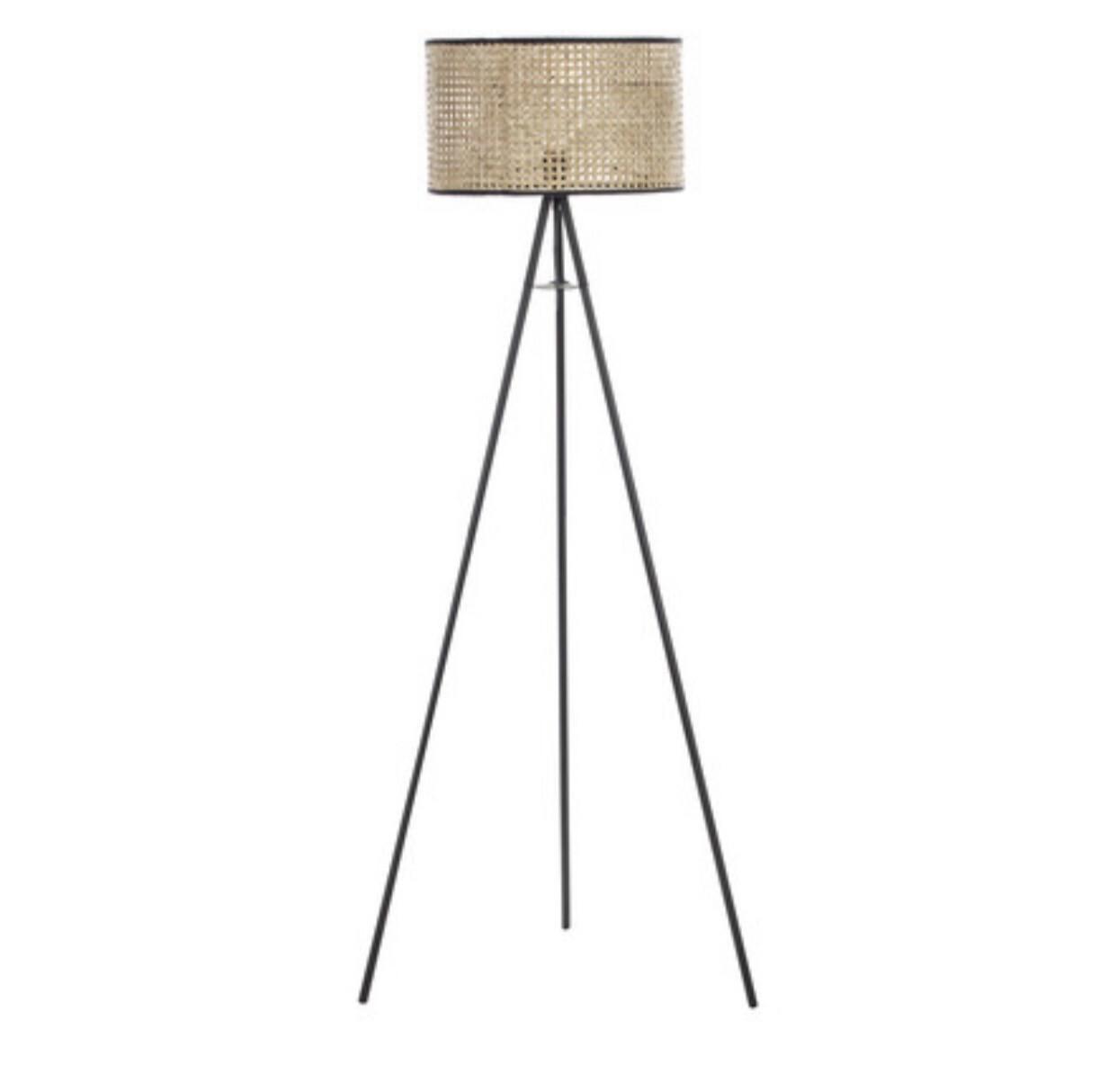 WOVEN RATTAN FLOOR LAMP