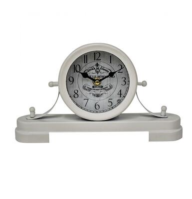 VINTAGE WHITE MANTLE CLOCK