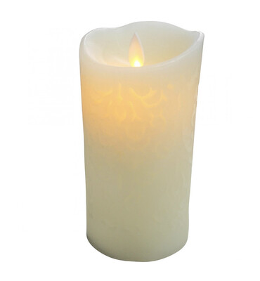 FLAMELESS CANDLE CARVED LARGE