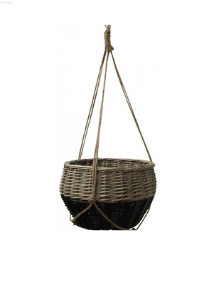 HANGING BASKET LARGE BLACK