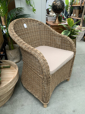 WICKER COVENTRY CHAIR GREY