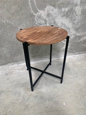 ROUND TIMBER SIDE TABLE