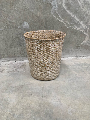 NATURAL RATTAN WOVEN TUB - SMALL