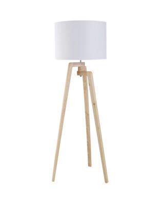 NATURAL TIMBER FLOOR LAMP