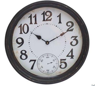 IRON ROUND WALL CLOCK  (black)