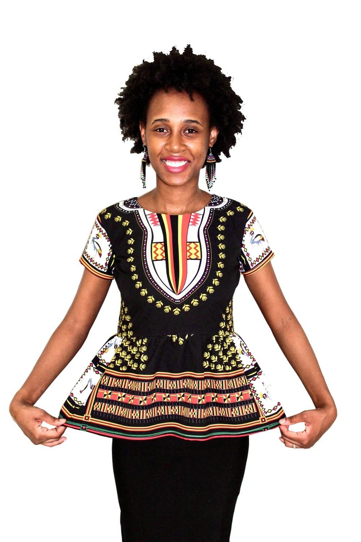 Uganda Dashiki Ladies Tops