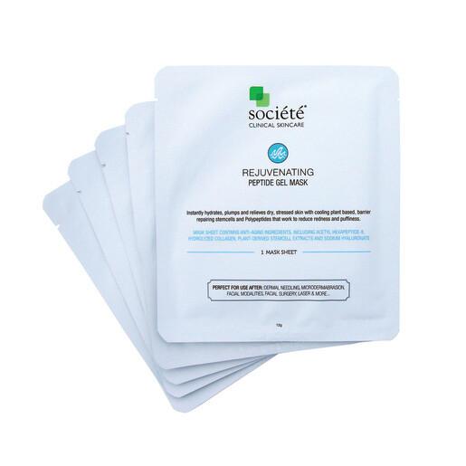 SOCIETE Rejuvenating Peptide Gel Mask - 5 Pack