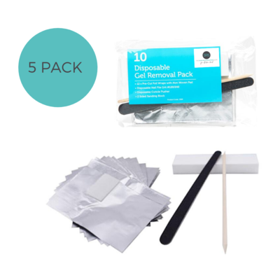 GEL REMOVAL PACK - 5 pack - Foil, File & Buffer
