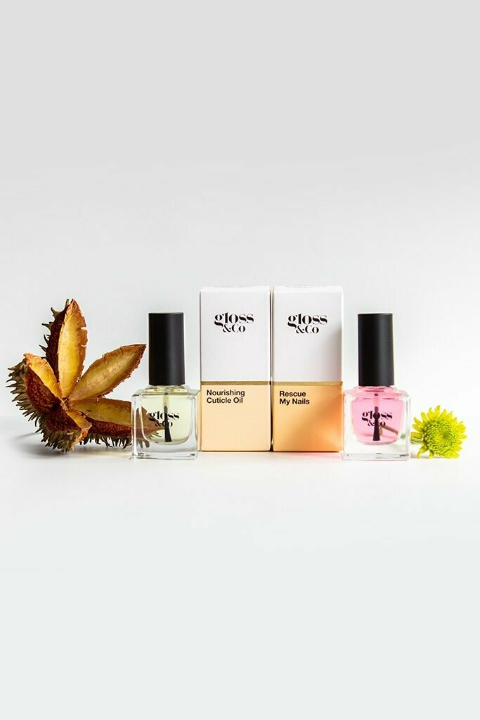 GLOSS & CO Nail Care Pack - Nourishing Cuticle Oil & Rescue My Nails