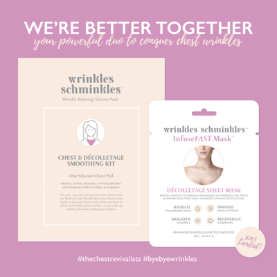 WRINKLES SCHMINKLES Better Together Bundle - Chest Smoothing Kit & InfuseFAST Décolletage Mask