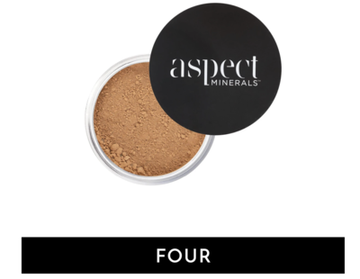 ASPECT MINERALS - POWDER FOUR Medium Tan | Neutral- LOOSE MINERAL POWDER SPF 25