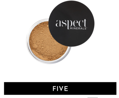 ASPECT MINERALS - POWDER FIVE Tan | Warm- LOOSE MINERAL POWDER SPF 25