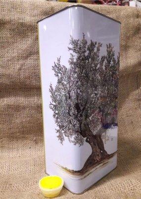 Lattina lt.3 serigrafata con tappo (confezione da 12 pz.) 60x27x27 h