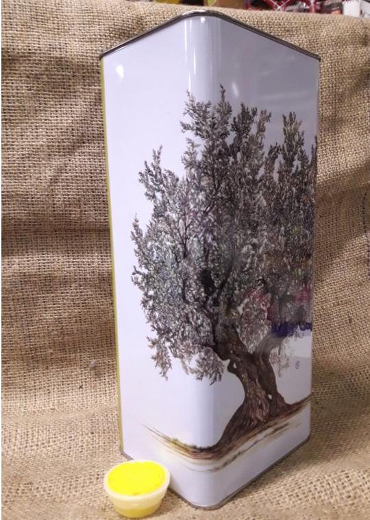 Lattina 5 lt. serigrafata con tappo (confezione 8 pz.) 60x25x32 h