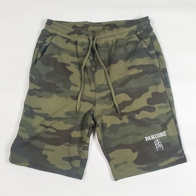 FLEESE SHORTS- FOREST CAMO