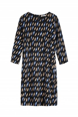 Sandwich Dress Blue Black Print