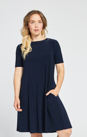Sympli Trapeze Dress Short Sleeve