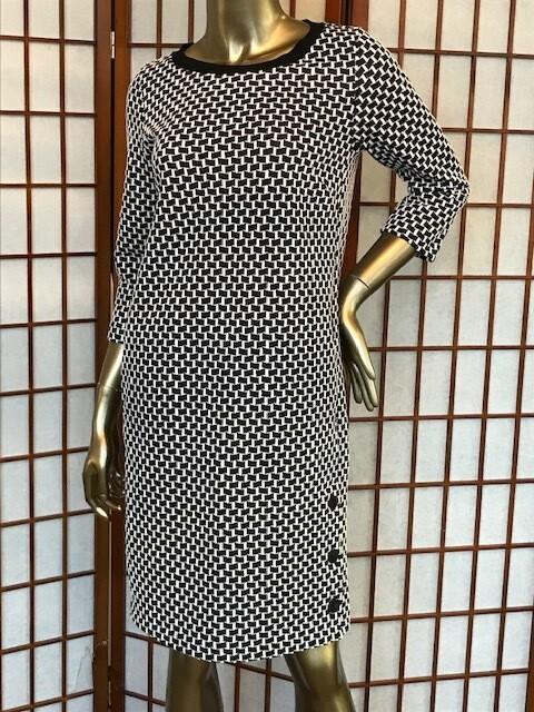 Sandwich Dress Black/White Print