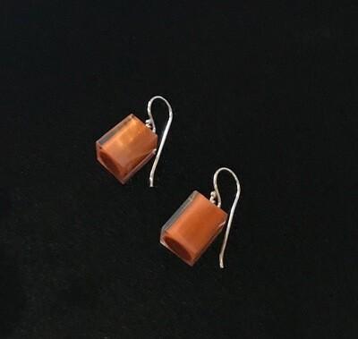 Zsiska Earrings-Colourful Beads Square Short  Cinnamon