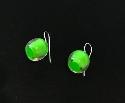 Zsiska Earrings-Colourful Beads Short Bright Lime