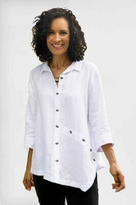 Habitat-Shirt Linen Oval Buttons
