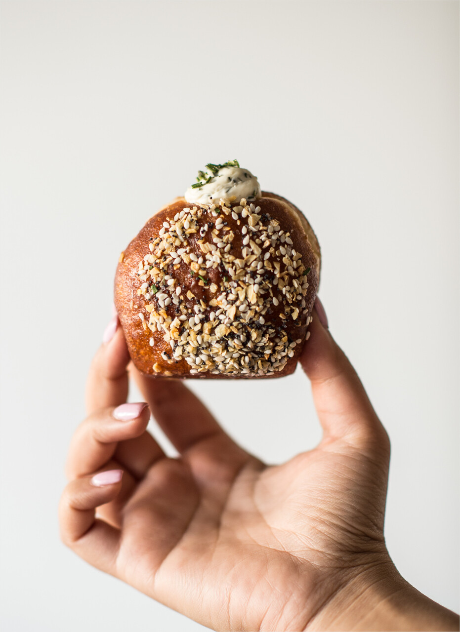 Everything Bagel Doughnut w/chives