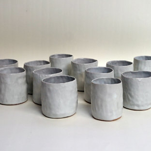 tall, white teacup