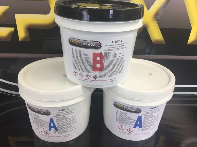 epoxy resin/résine époxydique 3 US GALLONS (11.34L)