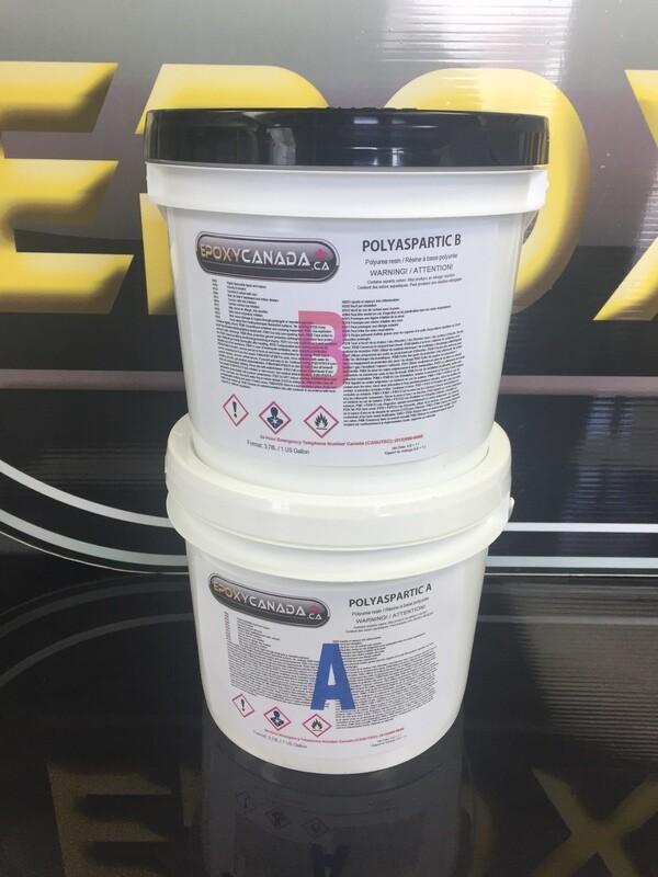 Polyaspartic resin/Résine polyaspartique 1 US GALLON (3,78L)