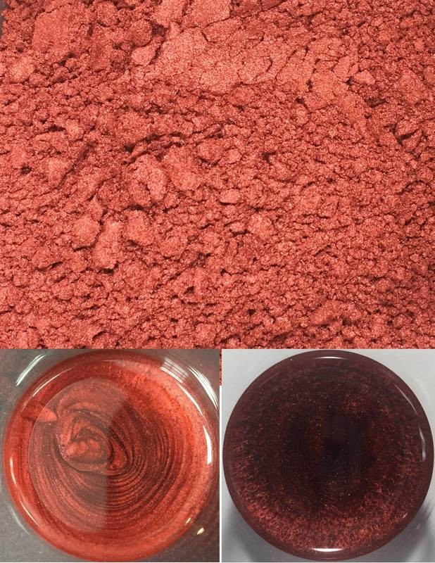 metallic pigments burnt orange/pigments métalliques orange brûlé