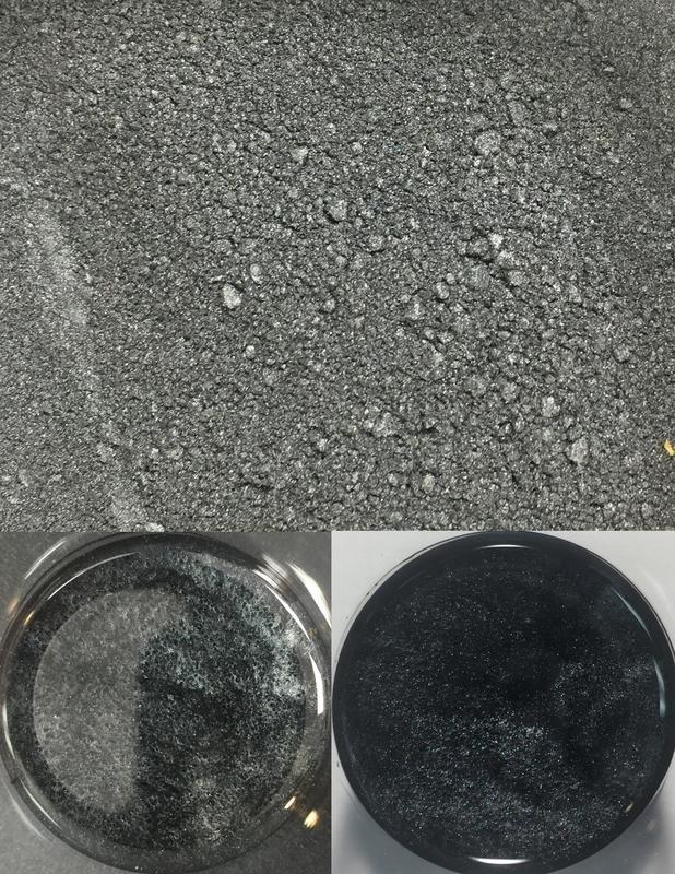 metallic pigments black/pigments métalliques noir
