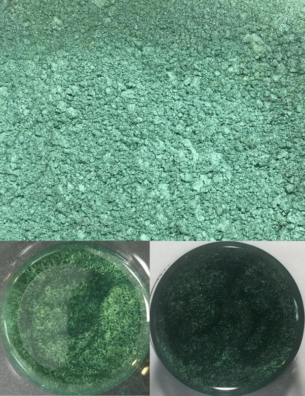 metallic pigments forest green/pigments métalliques vert forêt