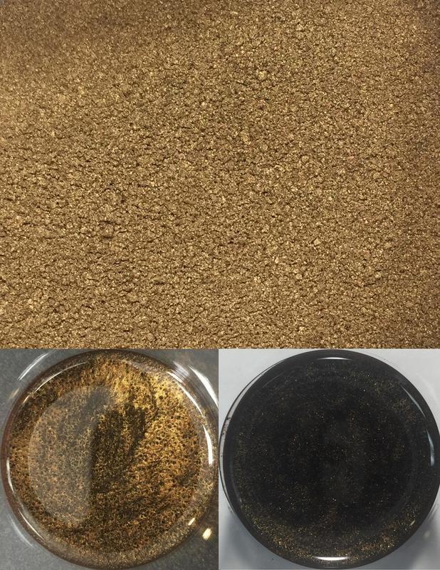 metallic pigments dark brown/pigments métalliques brun foncé