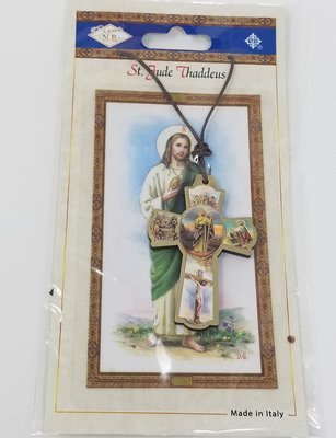 St. Jude Cross with Life of Christ (English)