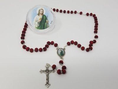 St. Jude Rose-Petal Bead Rosary