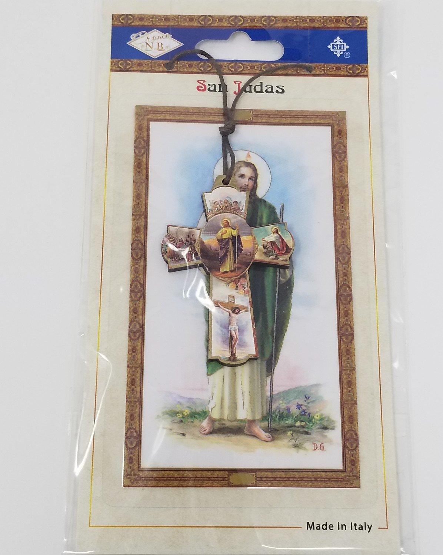 Cruz de San Judas con Vida de Cristo (Español)