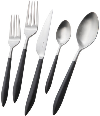 Ares 5 Piece Place Setting black