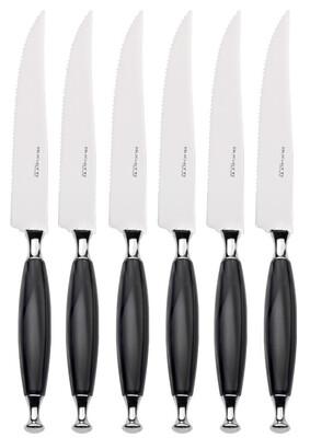 Country Steak Knives Set black